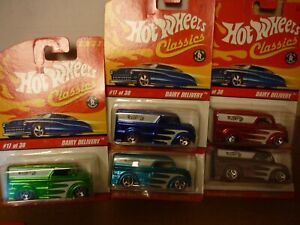 hot wheels classics dairy delivery series #2 lot of 5 different colors
