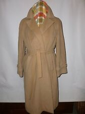 VINTAGE Wrap Over Cashmere CAPPOTTO TAGLIA UK 18 British Made