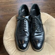 VTG Stacy Adams Sz 12 Dress Shoes Black Madison