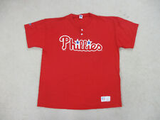 VINTAGE Philadelphia Phillies Shirt Adult 2XL XXL Red Blue Baseball Men 90s A47*