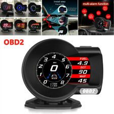 Car OBD2 Gauge HD LCD Screen HUD Head-Up Digital Display Boost Data Scan Tool