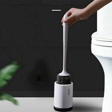 Scopino WC silicone setole morbide Spazzola per pulizia base Set da toilette #