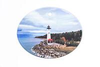 Crisp Point Lighthouse Glass Ornaments, Landscape Ornament