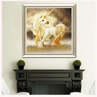 5D DIY Crystal Diamond Embroidery Cross Stitch Unicorn Paintings Craft Decor  BD