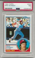 1983 TOPPS #300 MIKE SCHMIDT, PSA 7 NM, HOF, PHILADELPHIA PHILLIES, L@@K !