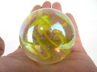 "2"" TOE BREAKER 50mm YELLOW SPAGHETTI Wire Pull Confetti Marbles glass ball HUGE"