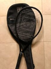 ULTRA RARE!! Authentic CHANEL Black Tennis Racket and Cover CC Logo.