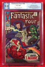 FANTASTIC FOUR #65 PGX 8.0 VF FIRST RONAN GOTG & Avengers - UNPRESSED + CGC!!!