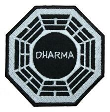 LOST DHARMA Initiative Logo Embroidered Patch Sew / Iron-on 10cm Badge