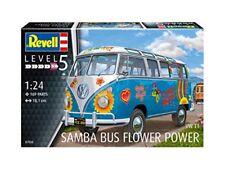 "Volkswagen VW T1 Samba Bus ""FLOWER POWER"" Figli dei Fiori Plastic Kit 1:24 Model"