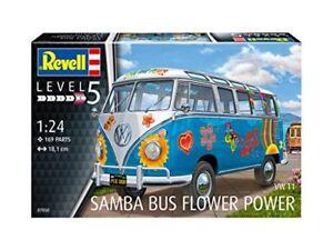 "Volkswagen T1 Samba Bus "" Flower Puissance "" Sons Dei Fleurs Plastique Kit 1:24"
