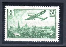"FRANCE STAMP AERIEN N° 14 a "" AVION SURVOLANT PARIS 50F VERT "" NEUF xx LUXE R688"