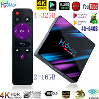 H96 MAX RK3318 Smart TV BOX Android 9.0 4GB 64GB Quad Core 1080p 4K Set Top Box