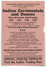 1930s Flier for Indian Ceremonials and Dances at North American Indian Village