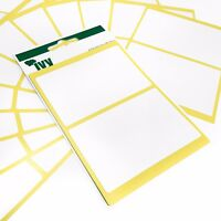 60 Self Adhesive Sticky White Labels / Stickers - 50 x 80mm - Ivy Stationery