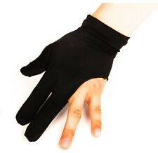 BLACK THREE FINGER LEFT HAND SNOOKER POOL BILLIARD CUE SHOTTER GLOVES