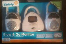 New, Safety 1st Glow & Go Monitor. 3 Piece Baby Room Portable  Light & Temp 400'