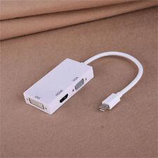 3 in 1 Mini DP Displayport Thunderbolt to HDMI DVI VGA Adapter Cable Converter