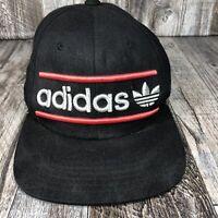 ADIDAS ORIGINALS HAT CAP SNAPBACK RED BLACK ADJUSTABLE ONE SIZE OSFA LOGO SNAPS
