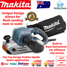 "Makita Belt Sander MT Series 100mm 4"" Handheld Dust Extraction 940W Power Tool"