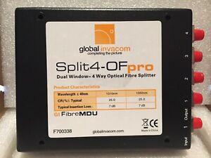 Global Invacom F700338 4 Way Optical Box Splitter
