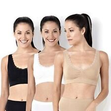 Slim'n Lift Aire Bra Deluxe 3 pack - Large (Beige/White/Black)