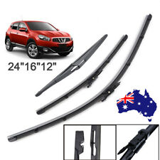 Front & Rear Wiper Blades For Nissan Dualis + 2 J10 JJ10 SUV 1.6 dCi 2006-2013