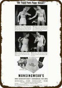 1941 MUNSINGWEAR Men's Underwear Vintage Look DECORATIVE METAL SIGN - PETE & MAC