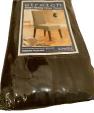 Sure Fit Stretch Pinstripe Dining Chair Slipcover Chocolate Brown Brand New