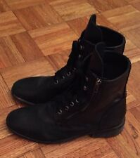 Diesel Pataboot The PIT Boots Mens Sz 42.5 US 9.5 Side Zip Ankle Black Leather