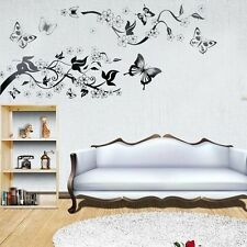Romantic Tree and Butterflies Wall Stickers Wallpaper  DIY Decor Art Decal Home