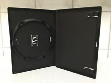 162 x Single DVD Cases by Amaray Black with 14mm Spine and Clear Cover Sleeve