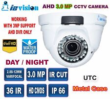 CCTV AHD Dome Camera  3.0 Mega Pixel, 2.8~12mm Varifocal Lens 72 IR  2048×1536