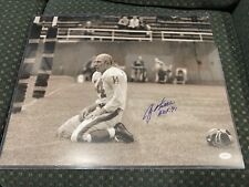 Y.A.Tittle Autographed N.Y. Giants 16x20 Photo- JSA ITP COA HOF 49ers Colts