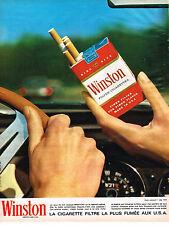 PUBLICITE ADVERTISING  1964   WINSTON  cigarettes
