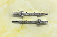 RHINESTONE BOBBY PINS SET OF 2 NEW, FIRST QUALITY, BEAUTIFUL, STYLE #8