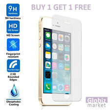 NEW Genuine Tempered Glass Film Screen Protector For Apple iPhone SE / 5S / 5