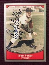 Bob Feller 1990 Pacific Baseball Legends Autographed Signed Card #85