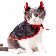 Cat Costume Christmas Pet Costumes cat cape& hat Pet Cape Cat Halloween Cost 7S1