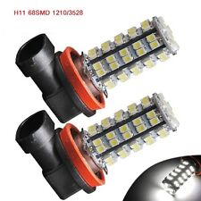 2 x New 8000K White 68SMD H11 LED Car Fog Driving DRL Daytime Running Light 12V