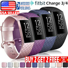 USA For Fitbit Charge 3 / 4 Watch Band Replacement Silicone Bracelet Wrist Strap