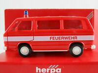 "Herpa 4101 VW T3 Bus (1979-1992) ""FEUERWEHR"" in rot/weiß 1:87/H0 NEU/OVP"