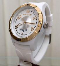 Genuino Reloj De Diseñador De Hugo Boss Boss Orange Fecha para Hombre Blanco Silicon RRP £ 189 (B47