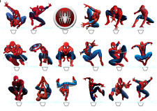 18x SUPER HERO SPIDERMAN edible rice cup cake stand up toppers birthday cake