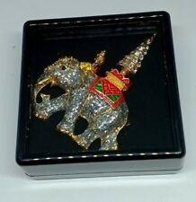 New Elephant Lovely Brooch Pin With Black Box Charm Gift Accessery Size 4 X 5 cm
