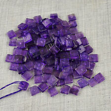 Exclusive 40.50 Carats Earth Mined Untreated Drilled Purple Amethyst Beads Lot