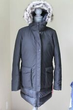 NEW $279 WOM NORTH FACE L Tuvu Parka Faux Fur JACKET 550 FILL DOWN COAT BLACK