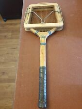 Vintage Wooden Tennis Racket by Lugard & Pulham, Wembley & Dunlop Press