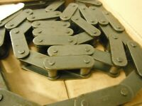 """WHITNEY 81X RIV CONVEYOR ROLLER CHAIN RIVETED 10 FEET 2.609"""" PITCH"""
