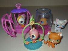 RETIRED HASBRO LITTLEST PET SHOP LPS FISH BOWL BIRD CAGE CAT SWING COMP SETS LOT